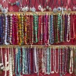 Indian jewellery sold at market in Leh, Ladakh, India - Stock Photo