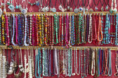 Indian jewellery sold at market in Leh, Ladakh, India — Stock Photo