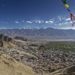 Overlooking Leh, the capital of Ladakh, India — Stock Photo #14894975