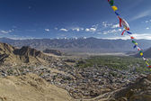 Overlooking Leh, the capital of Ladakh, India — Stock fotografie