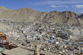 Overlooking Leh, capital of Ladakh, India — 图库照片