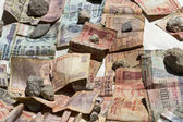 Indian rupee bank notes in the sun — Stock Photo