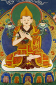 Buddhist fresco at Thikse Gompa in Ladakh, India — Stock Photo