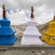 Three stupas (gompas) — Stock Photo