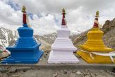 Three stupas (gompas) — Stock Photo