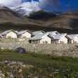 Tented tourist camp on lake pangong, Ladakh, India - Stok fotoraf