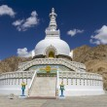Shanti Stupa near Leh, Ladakh, India — Stock Photo #15637893