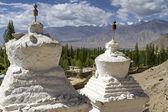Two old stupas in the mountains of Ladakh, India — Stock Photo