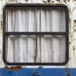 Stock Photo: Window of old railway compartment