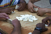 Playing domino on Cuba — Stock Photo