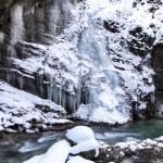 Partnachklamm gorge in Bavaria, Germany, in winter — Stock Photo #21984291