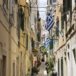 Alley in Corfu town of Corfu island, Greece — Stock Photo