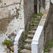 Stock Photo: Staircase on old house in Greece