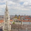 City of Munich with the tower of the new town hall — Stock Photo
