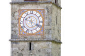 Historic church clock in Italy — Stock Photo