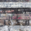 Painted weathered wood as background — Stock Photo