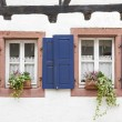 Traditional windows in a small village in Rhineland-Palatinate — Stock Photo