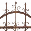 Rusted wrought iron fence on white background — Stock Photo #34855815