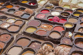 Leather tanning in Morocco, North Africa — Stock Photo