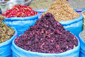 Dried cactus flowers on a market in Morocco — Stock Photo