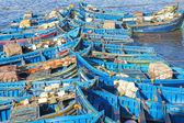 Fishing boats in Essaouira harbour, Morocco — Stock Photo