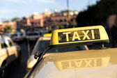 Taxis in a Moroccan town, North Africa — Stock Photo