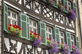 Half timbered house in upper Franconia, Germany — Stock Photo