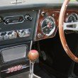 Stock Photo: Front panel of classic car