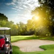 Golf cart - Stock Photo