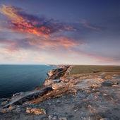 летний вечер на берегу моря — Стоковое фото
