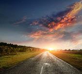 мощеная дорога — Стоковое фото