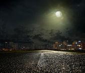 Der weg in die stadt — Stockfoto