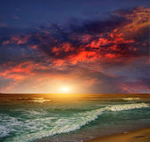 Folly Beach Ocean Sunset — Stock Photo