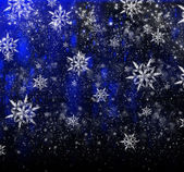 Bright Christmas background with a large snowflake — Stock Photo