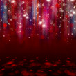 Colorful lights on red background. — Stock Photo #17610333