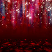 Colorful lights on red background. — Stock Photo