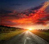 Paved country road — Stock Photo
