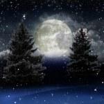 Яркий новогодний фон с большой снежинка — Стоковое фото