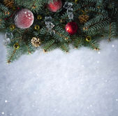 Snow background . Christmas — Stock Photo