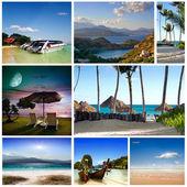 A set of photos of summer holidaym — Stock Photo