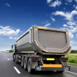 Freight truck on the road — Stock Photo