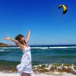 Woman and the sea — Stock Photo #27719865