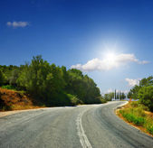 The road in the mountains — Stock Photo