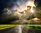 Road to the sky — Stock Photo