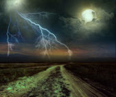 Road in the night — Stock Photo