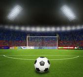 Football stadium before the match — Stock Photo