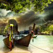 Traditional Thai boat — Stock Photo