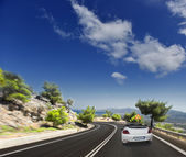 Asphalt road. blurred motion — Stock Photo