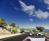 Asphalt road. blurred motion — Stock Photo