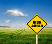 Risk ahead, — Stock Photo